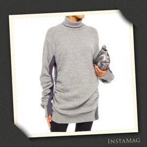 MM6 MAISON MARGIELA Gray Melange Ruched Sweater
